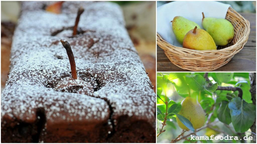 Birnen Schokoladenkuchen Mit Creme Fraiche Kamafoodra